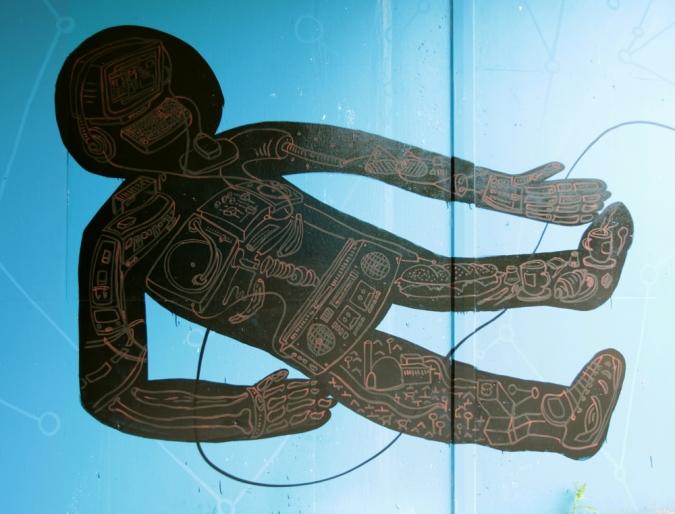 """Ausschnitt aus dem Mural """"historical dimensions"""" von Jens Besser"""